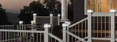 Solar Lights Fence - 5x5 solar deck lighting for 5 inch posts