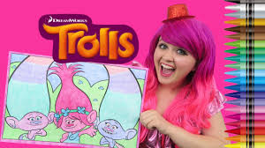 frozen giant coloring pages coloring trolls poppy satin u0026 chenille giant coloring page