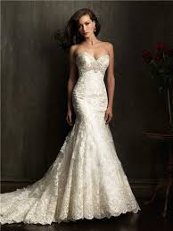 ivory lace wedding dress mermaid sweetheart chapel ivory lace beaded wedding dress