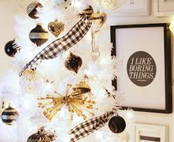 Black And Gold Christmas Tree Decorations My Black White Gold Christmas Tree