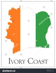 Ivory Coast Map Vector Illustration Ivory Coast Flag Map Stock Vector 269631947