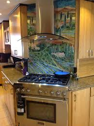 murals for kitchen backsplash glass tuscan mural for kitchen designer glass mosaics