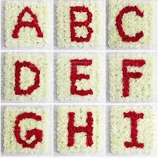 diy wedding backdrop names aliexpress buy custom diy initial name letters flower rows