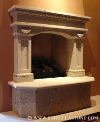 Cantera Stone Fireplaces by Estrella Custom Stone Fireplaces Cantera And Adoquin