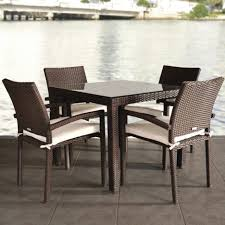 White Patio Dining Table And Chairs Dining Tables Lather And Square Cushions In Unusual Wicker Sofa