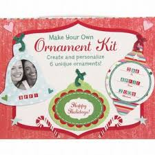 make your own ornament kit add photo decorate stickers
