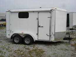 V Nose Enclosed Trailer Cabinets by Stealth Trailers