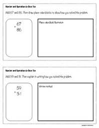 base ten blocks worksheet representing numbers units and