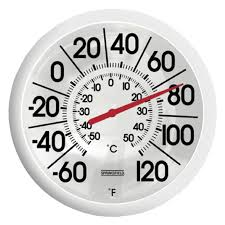 Patio Clock And Thermometer Sets by Springfield Big And Bold Thermometer Walmart Com