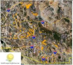 this is a great simple map of gold locations in arizona i would