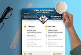 resume design templates 2015 free creative resume cv design template for ui ux designer psd