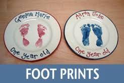 prints handprints glaze it pottery painting baby prints