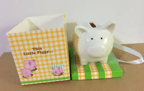 piggy bank party favors 10 pieces lot baby shower favors of this piggy ceramic pig