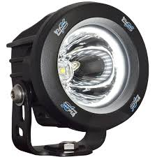 long range optimus led auxiliary light round optimus halo rpg offroad