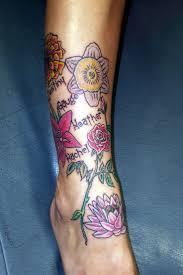 15 birth month flower tattoos design ideas for men and women
