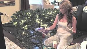 how to flock an artificial christmas tree youtube