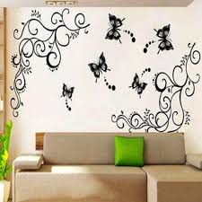 popular beauty wall buy cheap lots from china large calssic black butterfly flower wall sticker home decor poster flora butterflies beautiful