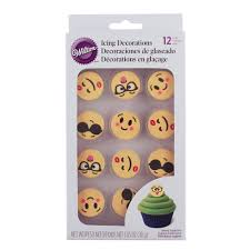 emoji icing decorations 710 7245 country kitchen sweetart