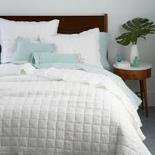 Home Design Down Alternative Color Full Queen Comforter Belgian Flax Linen Quilt Shams West Elm