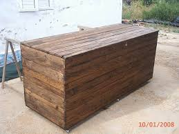 rustic pallet wood chest