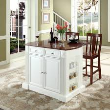 white kitchen island with drop leaf dining room portable kitchen islands breakfast bar on wheels white