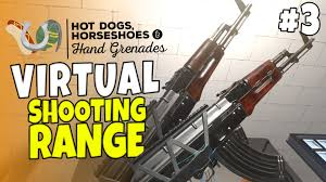 shooting range guns 3 dogs horseshoes