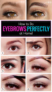 how to do eyebrows perfectly at home stylenrich