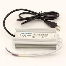 how to power led strip lights supernight tm 12v 60w transformer with 3 prong plug led driver