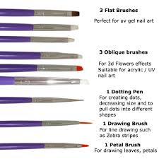 amazon com nail art brushes dotting pens marbling detailing