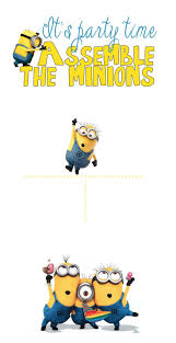 Printable Party Invitation Cards Best 25 Minion Invitation Ideas On Pinterest Minion Party