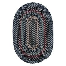 Braided Throw Rugs Shop Colonial Mills Boston Common Winter Blues Oval Indoor Braided