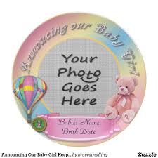 keepsake plate announcing our baby girl keepsake plate keepsakes babies and