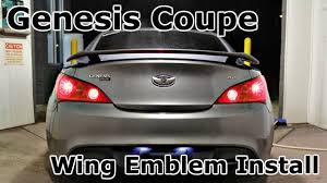 hyundai genesis coupe badge hyundai genesis coupe custom wing emblem rear install