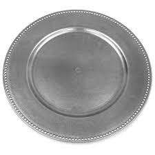 plates for wedding 6 pack 13 silver beaded acrylic charger plates wedding