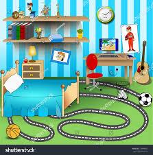 some kid bedroom vector art image stock vector 214844692