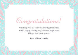 congratulations bridal shower customize 201 congratulations card templates online canva
