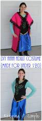 Halloween Costumes Adults Keeping Simple Disney Frozen Halloween Costume Diy Anna
