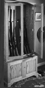 Plans For Gun Cabinet How To Build A Gun U0026 Rifle Cabinet 7 Free Plans