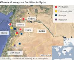 Where Is Syria On A Map by Syria U0027s Chemical Weapons Stockpile Bbc News