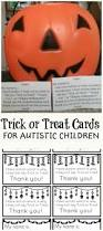 trick or treat cards for autistic children