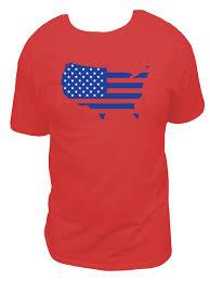Design Of American Flag American Flag In The Shape Of America T Shirt Blue Design Mens