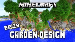 minecraft tutorial making a house u0027s garden landscape design