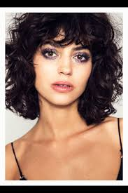 hairstyles for curly hair with bangs medium length best 25 curly bob bangs ideas only on pinterest curly bangs