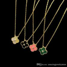 necklace brand names images New arrival brass and brand name necklace with 1 2cm agate flower jpg