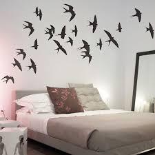 bird wall stickers feather wall decals swallows wall sticker set flying birds wall decor