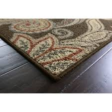 better homes and gardens brown paisley berber printed area rug ebay
