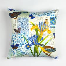 bird pillow cover 16 x 16 floral pillow cover floral