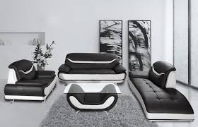 modern concept black and white leather sofa set with image 7 of 15