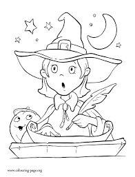 halloween a halloween little witch coloring page