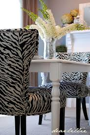 dining chairs charming leopard print dining set blackwhite